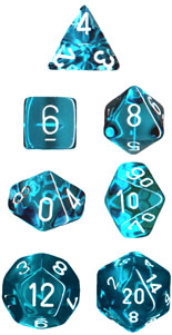 Translucent Teal/White Poly Set