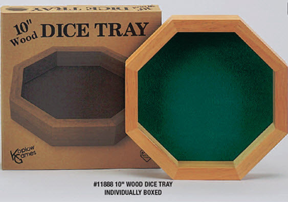 "10"" Octagon Dice Tray"