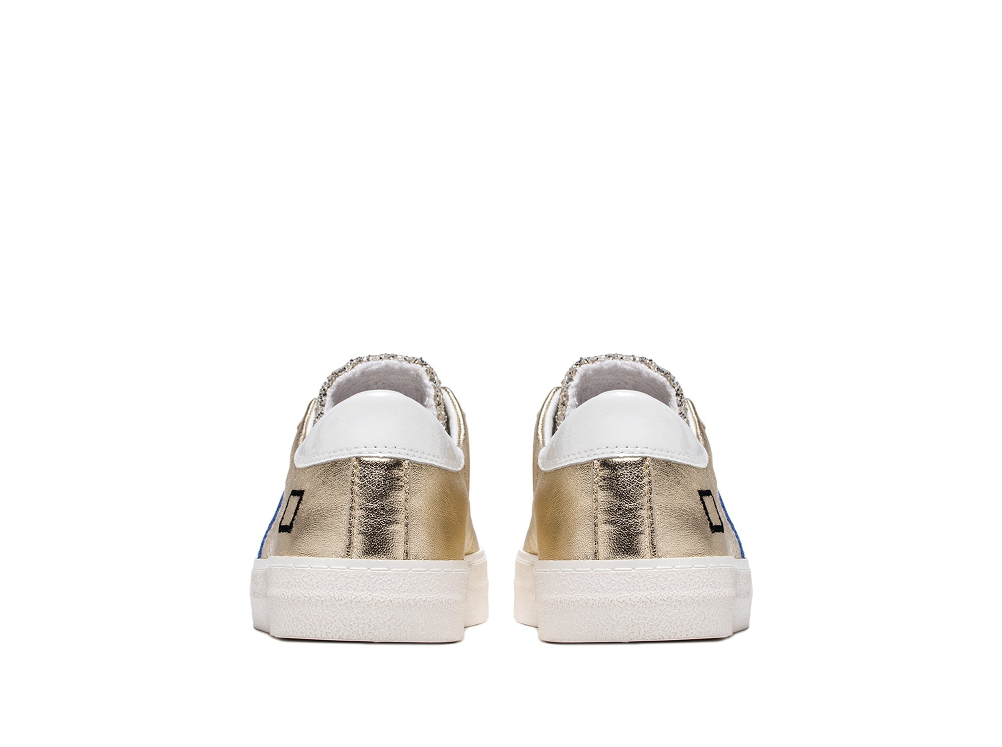 D.A.T.E Hill Low Trainer in Glitter Platinum