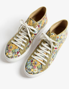 Hetre Alresford Hampshire Boutique Shoes Penelope Chilvers Avalon Mini Floral Cotton Trainer