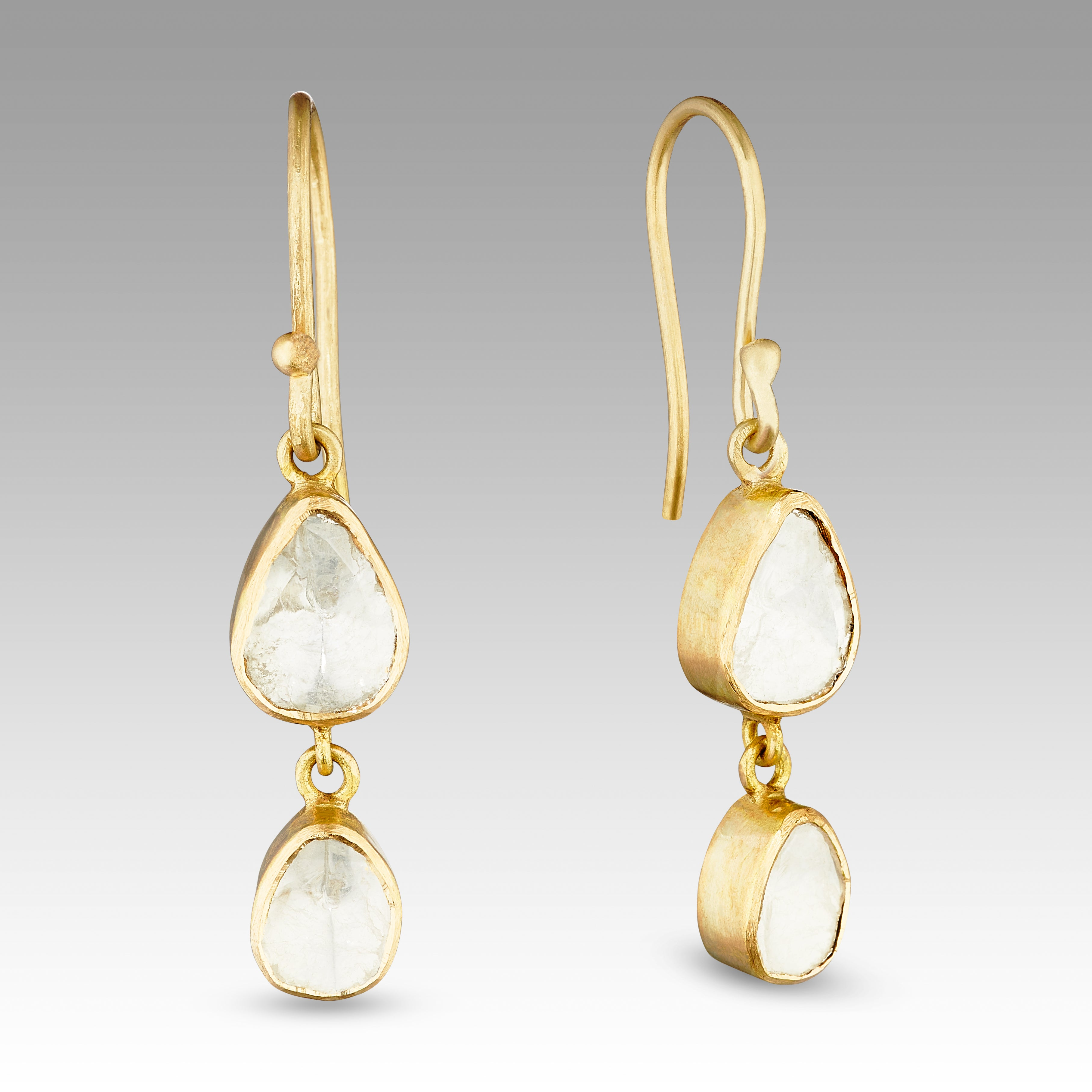 Sophie Theakston Double Polki Diamond Earrings