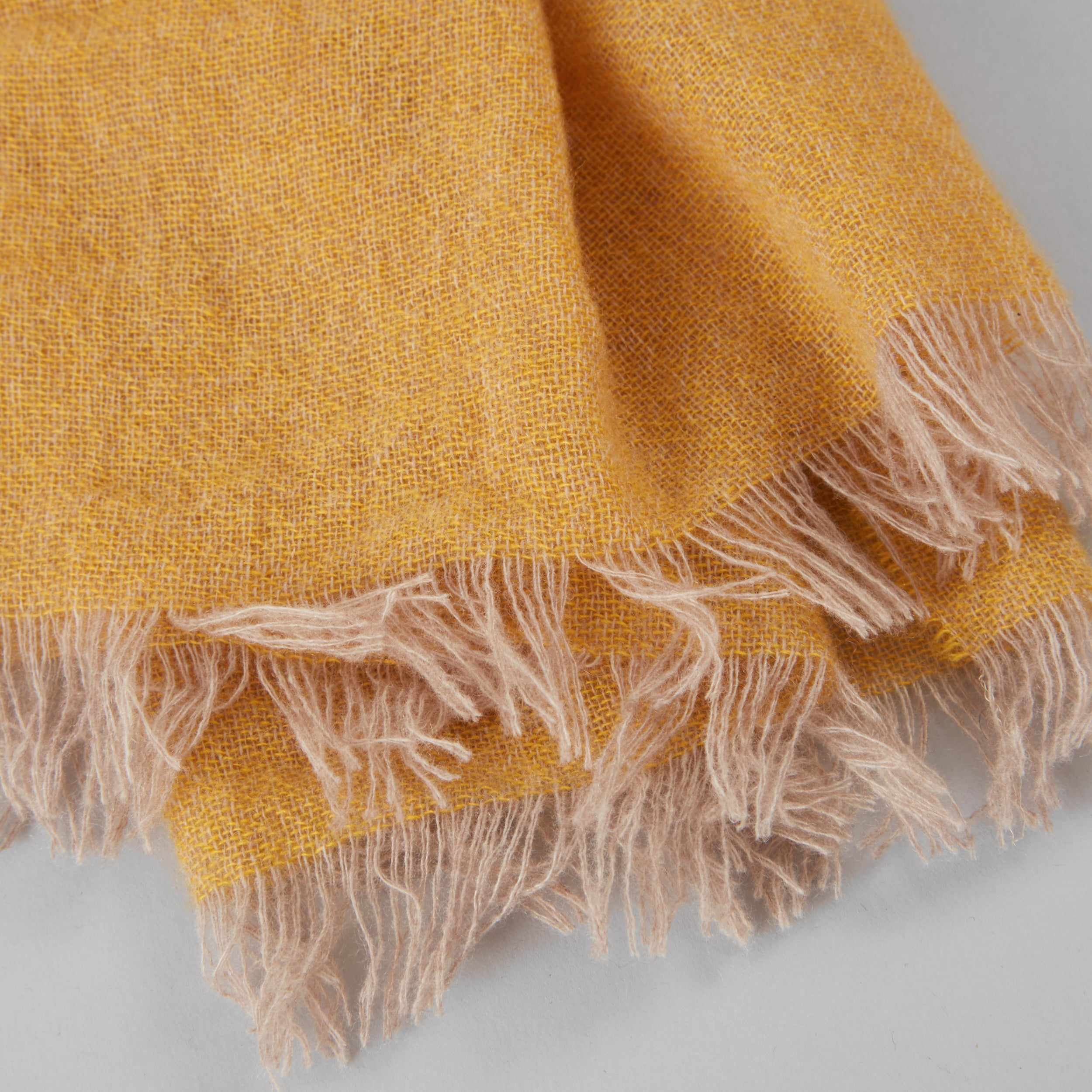 English Weather Mustard Cashmere Scarf