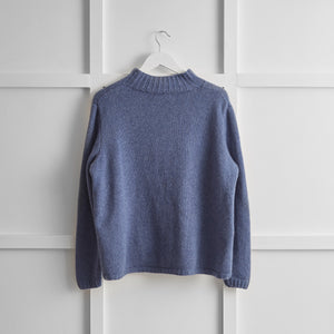Hetre Alresford Boutique English Weather Bluewash Cashmere Jumper