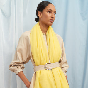 Hetre Alresford Hampshire Boutique Jane Carr Lemon Featherweight Scarf