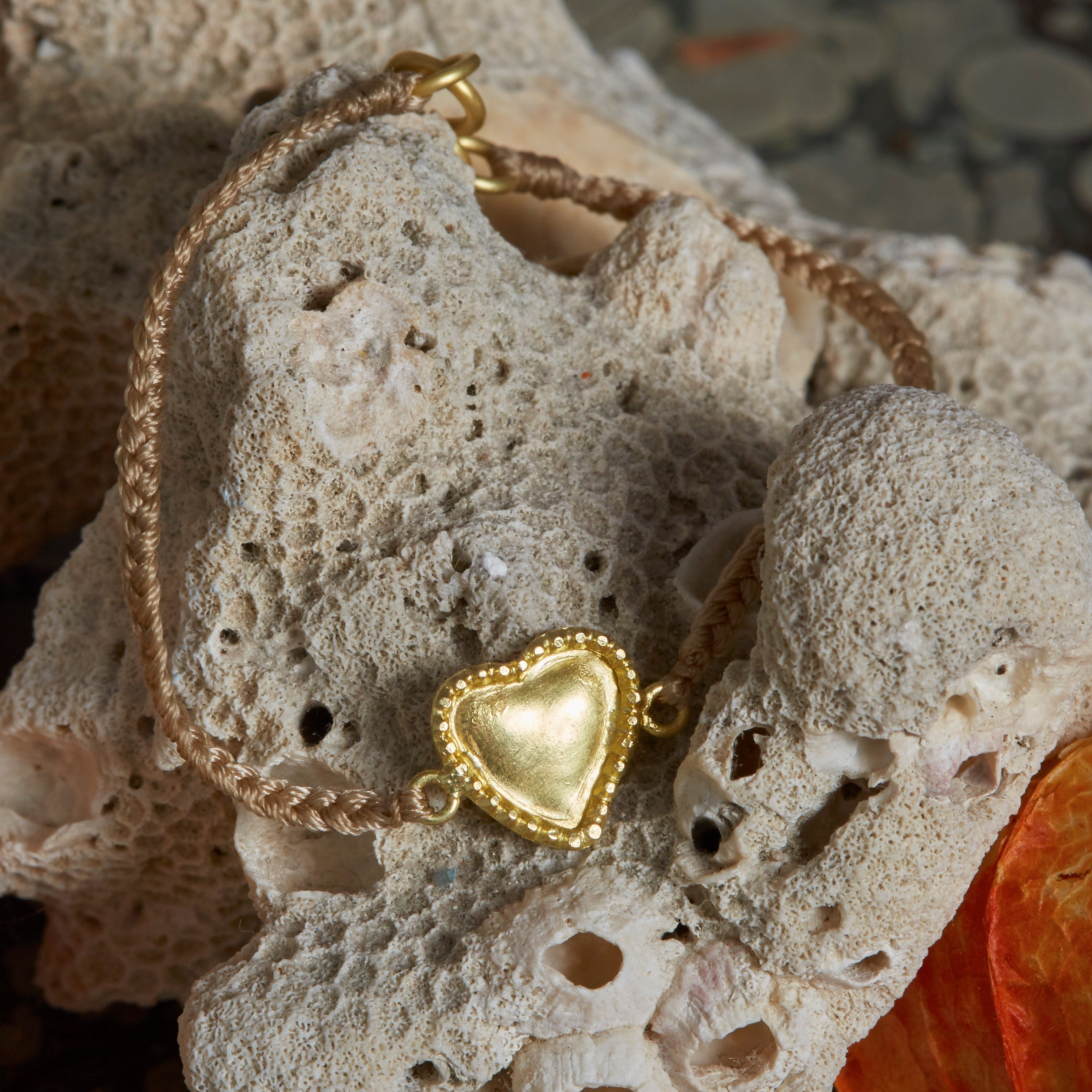 Hetre Alresford Hampshire Boutique Sophie Theakston Heart Thread Bracelet