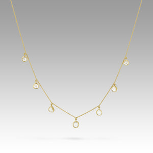 Sophie Theakston Seven Polki Diamond Garland Necklace