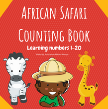 Load image into Gallery viewer, African Safari Counting Book: Learning Numbers 1-20 - Paperback Edition