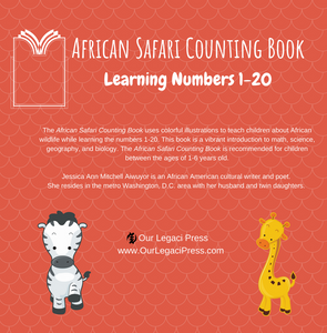 African Safari Counting Book: Learning Numbers 1-20 - Paperback Edition