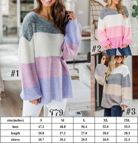Colorblock Sweater #1546