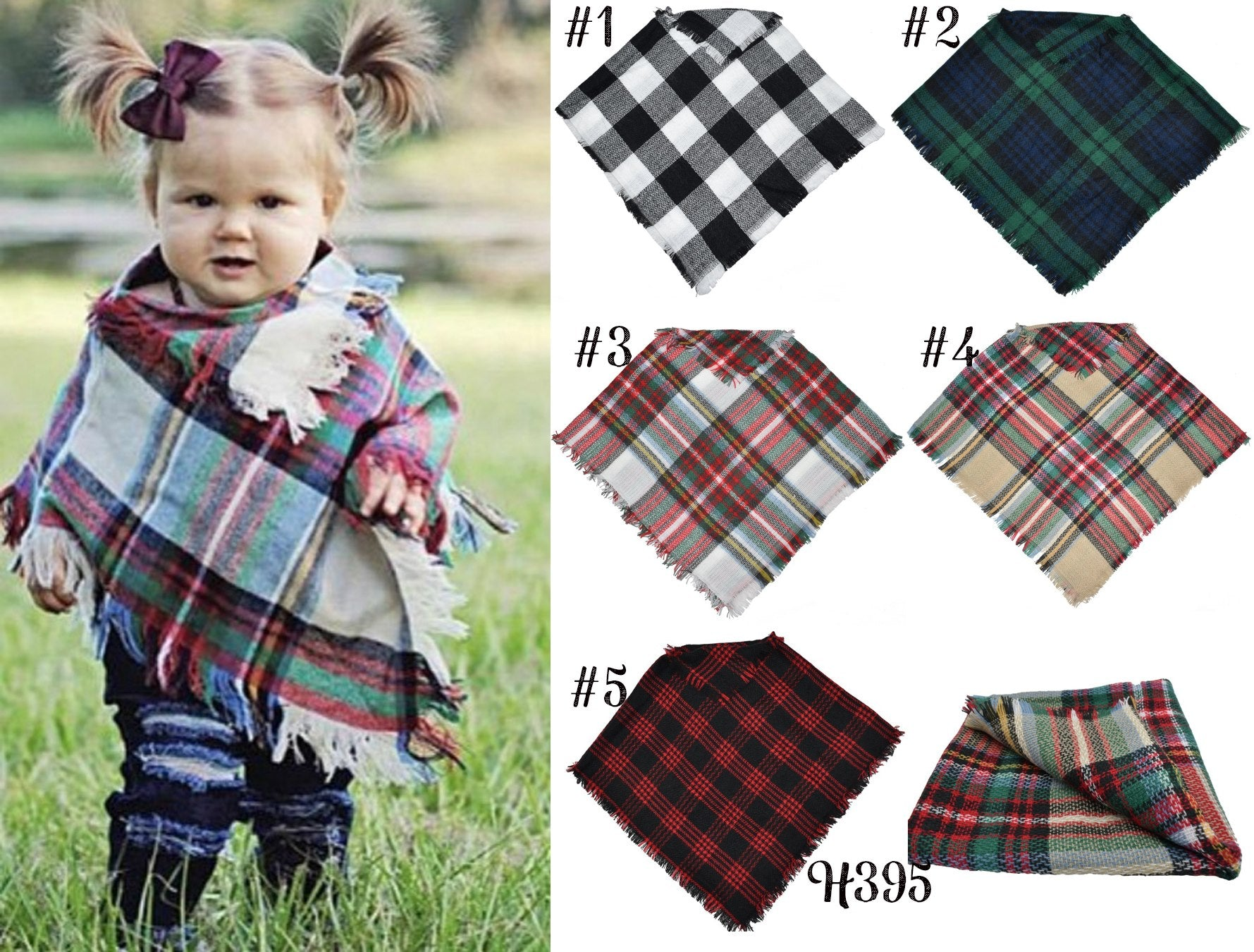 Children's Plaid Shawl #1498