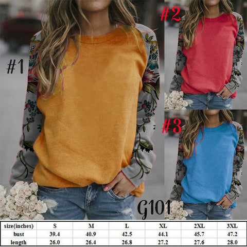 Patchwork Sleeve Top #1550