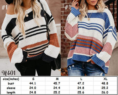 Striped Sweater #1552