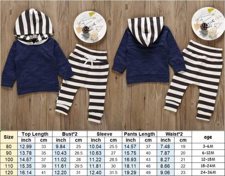 Children's Stripe Pants Outfit #1224