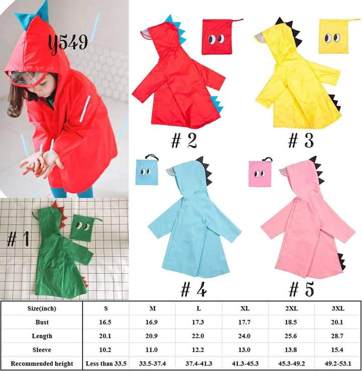 Children's Dino Raincoat #1138