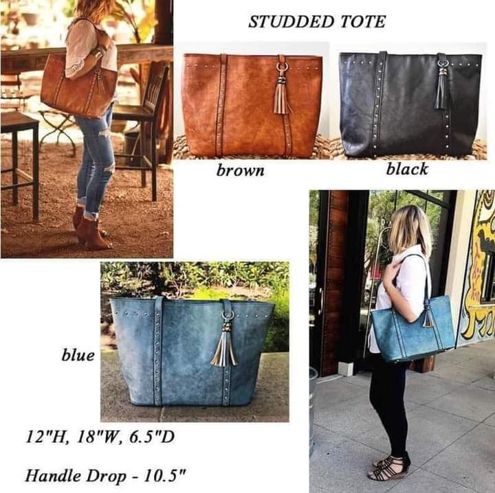 Studded Tote #1358