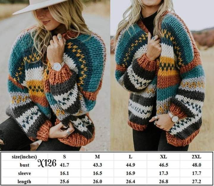 Knitted Short Cardigan #1417