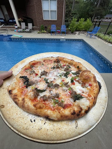 pizza by the pool