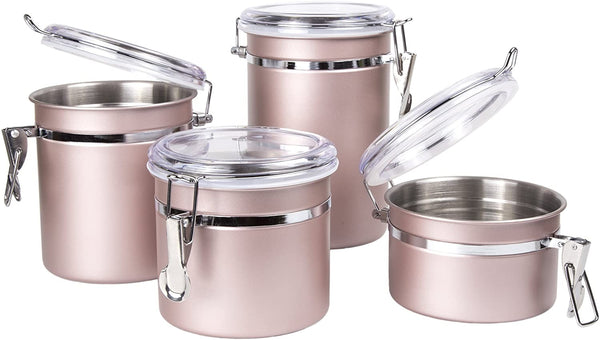 4-Piece Stainless Steel Canister