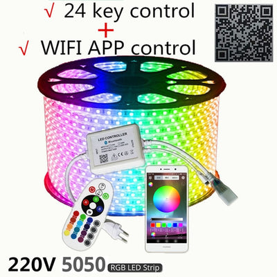 RGB Tape Phone APP and Remote control Waterproof flexible lights