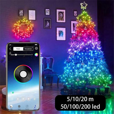 USB LED String Light Bluetooth App Control String Lights Lamp