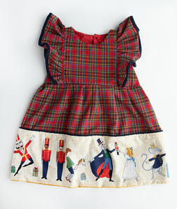 Red Tartan & Nutcracker Pinafore Dress