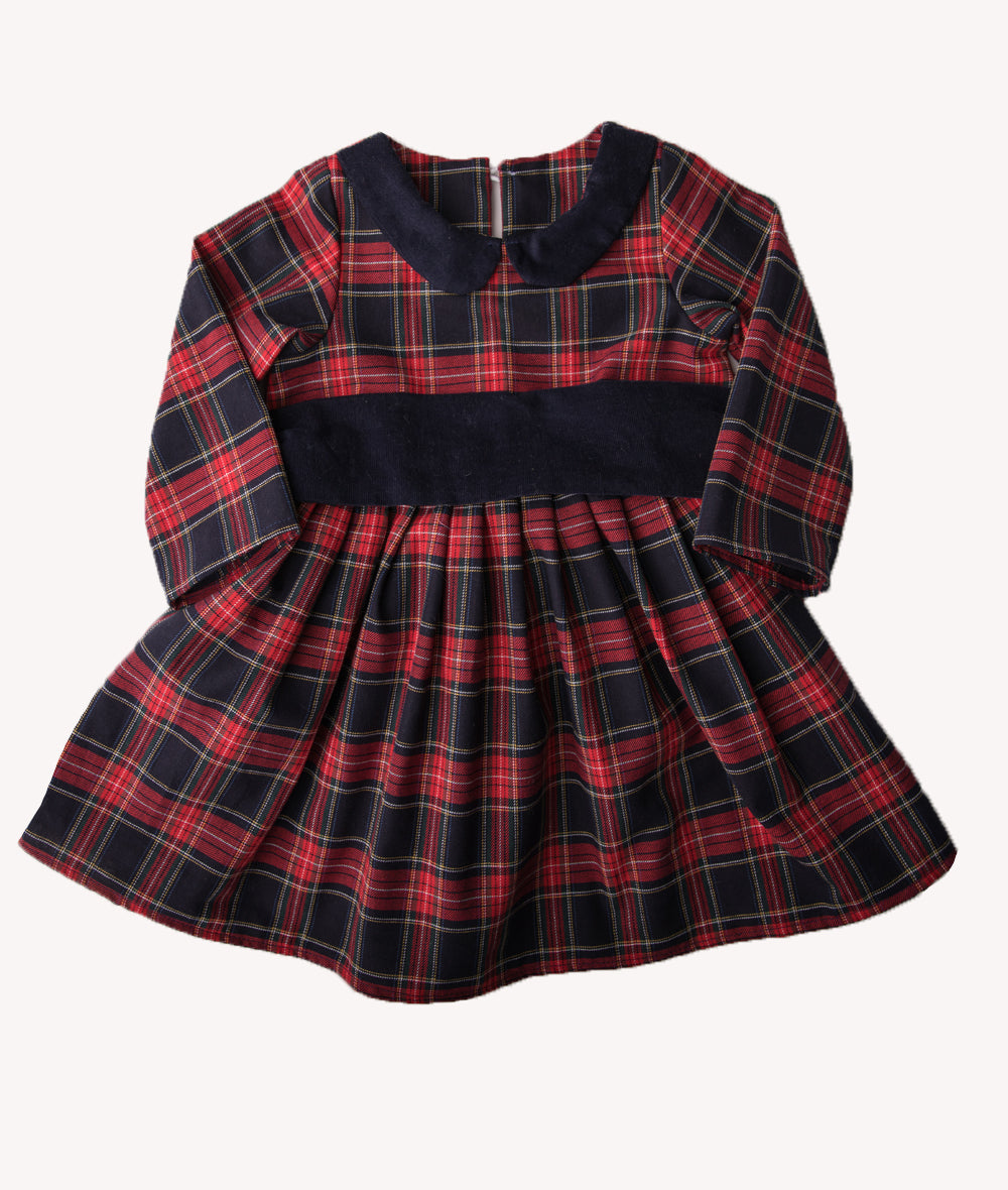 Navy & Red Plaid Virginia Dress