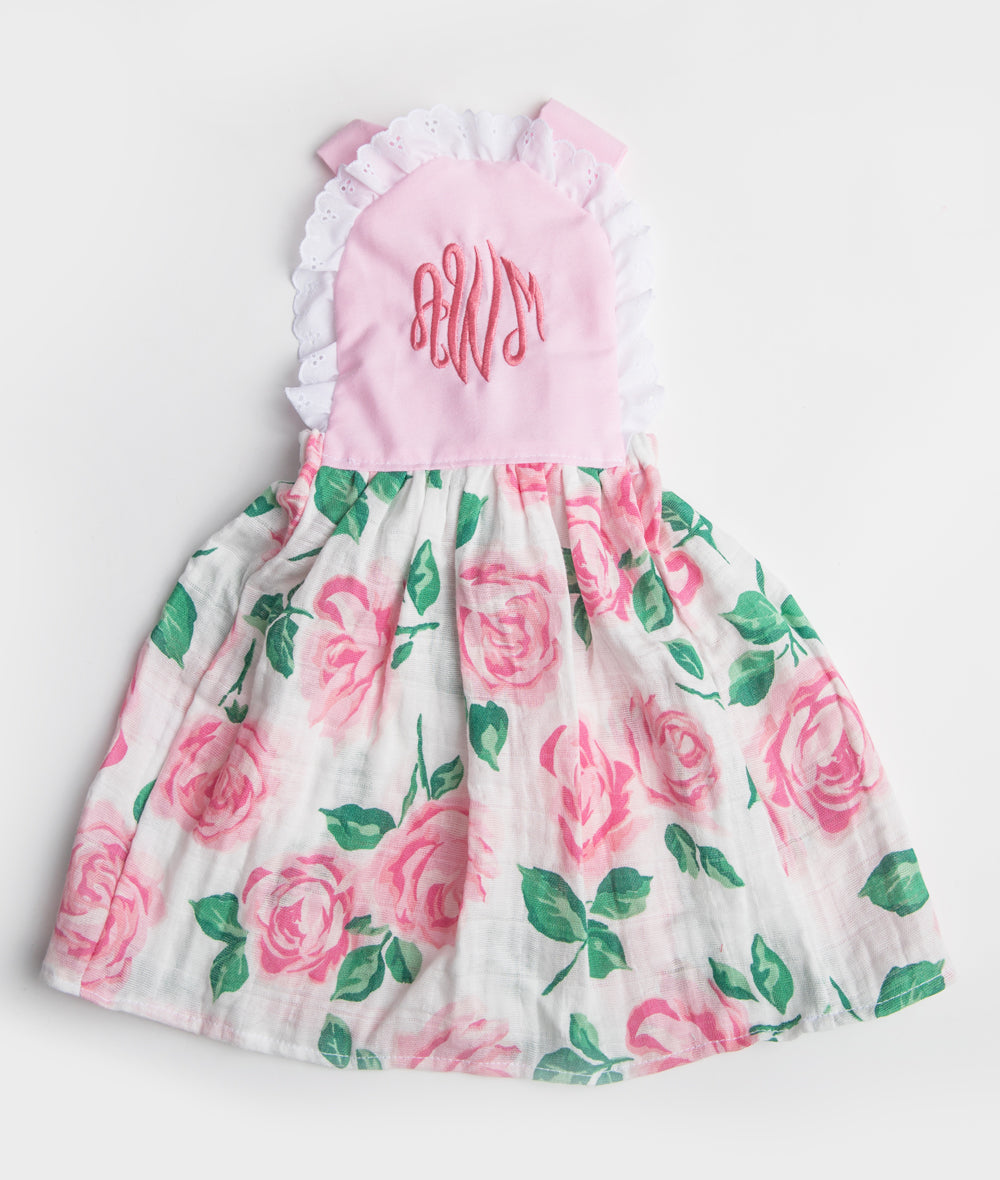 Pink & Rose Gauze Personalized Elsie Dress