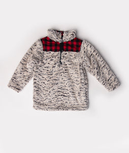 Fur & Buffalo Plaid Pullover