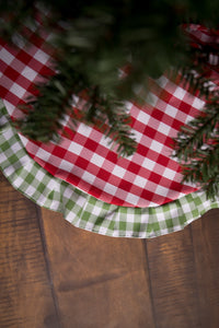 Red Gingham & Green Gingham Ruffle Tree Skirt