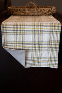 Mustard & Gray Plaid Reversible Table Runner