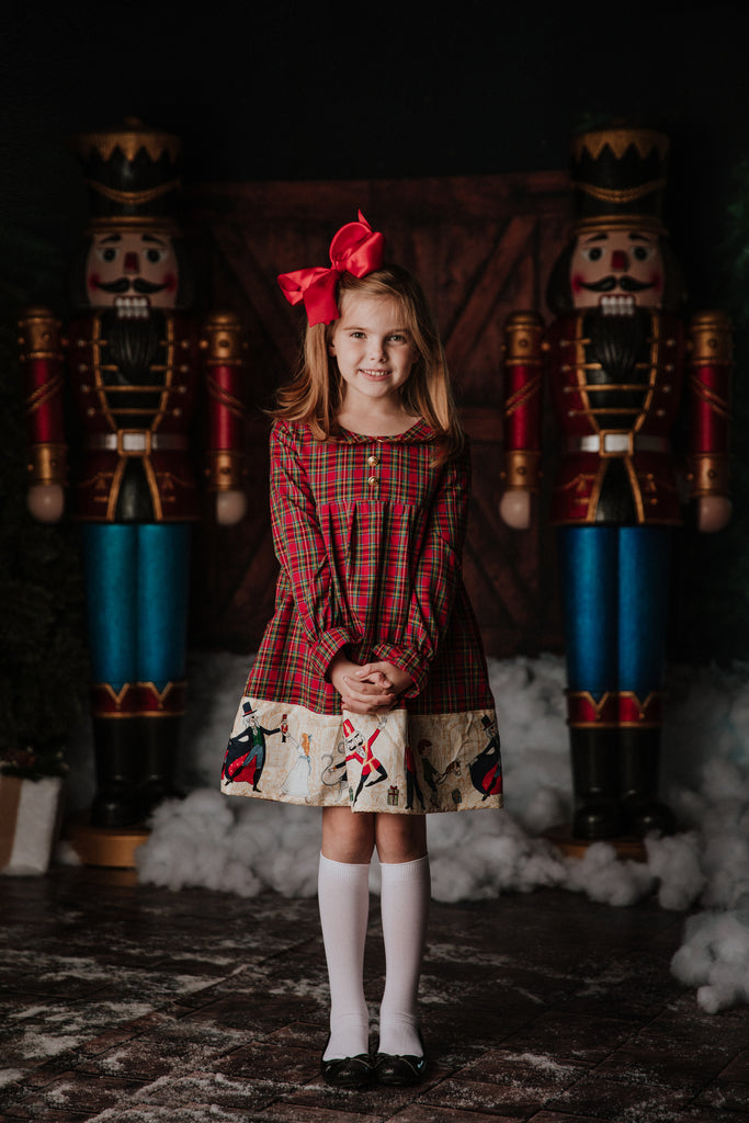 Red Tartan & Nutcracker Opal Dress