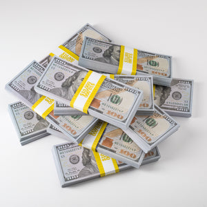 Movie Prop Money (fake money) - $100,000 - 10 x Stack (100 bills) of $100