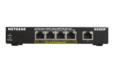 Netgear - 5 Port Gigabit Desktop Switch (Metal Casing)