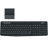 Logitech - K375s Multi-Device Wireless Keyboard & Stand Combo
