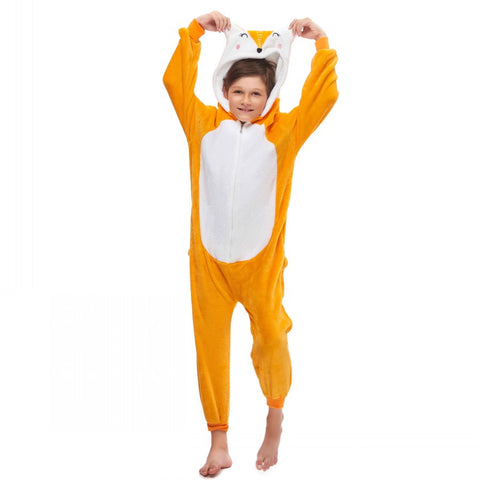 fox boys onesie pajamas