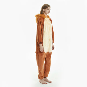furry plush hood women pajamas