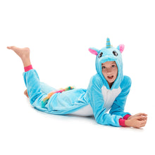 Load image into Gallery viewer, girls blue onesies for christmas