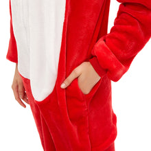 Load image into Gallery viewer, red warm women pajamas