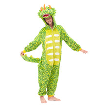 Load image into Gallery viewer, green  Triceratops pajamas for girls