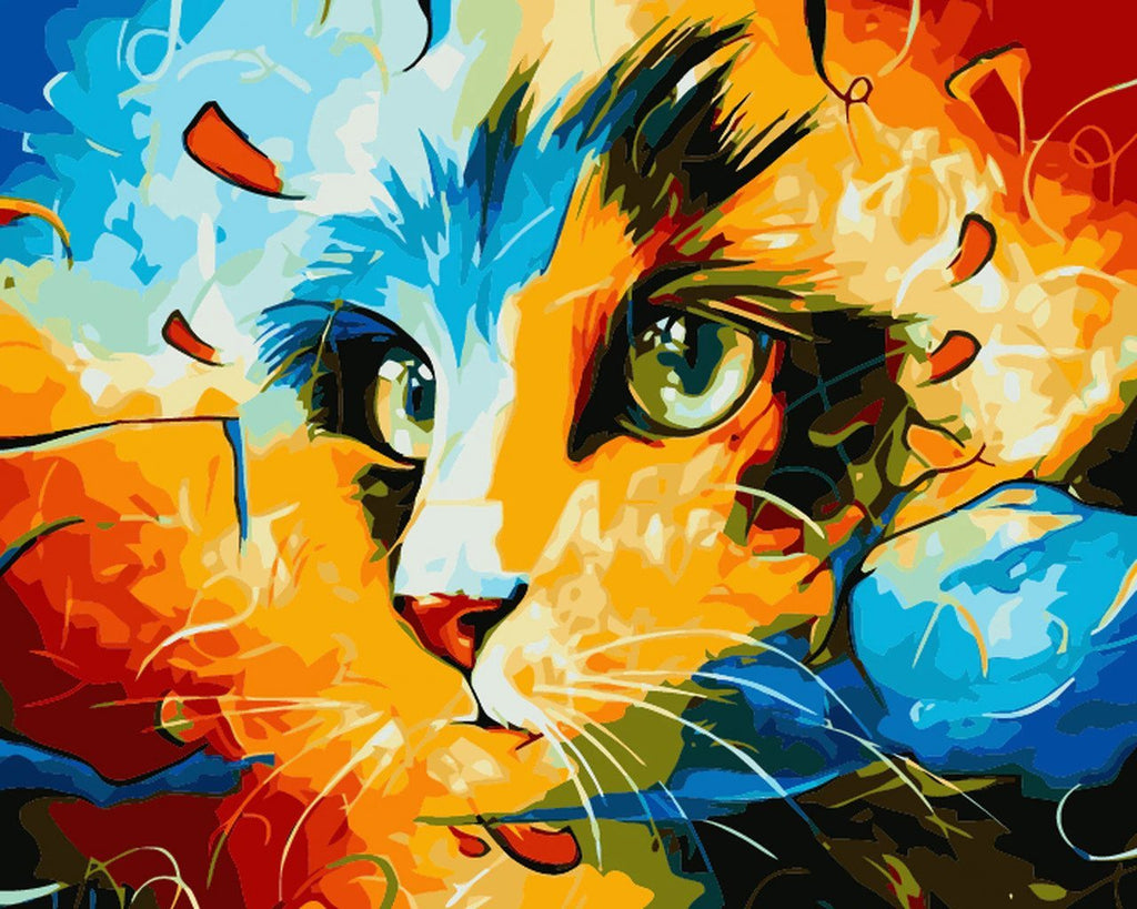 Wondrous Cat Paint by Numbers Kit