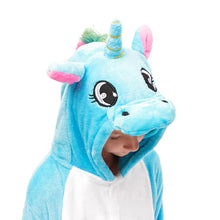 Load image into Gallery viewer, family pegasus blue pajamas