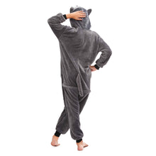 Load image into Gallery viewer, boys hooded warm fleece pajamas