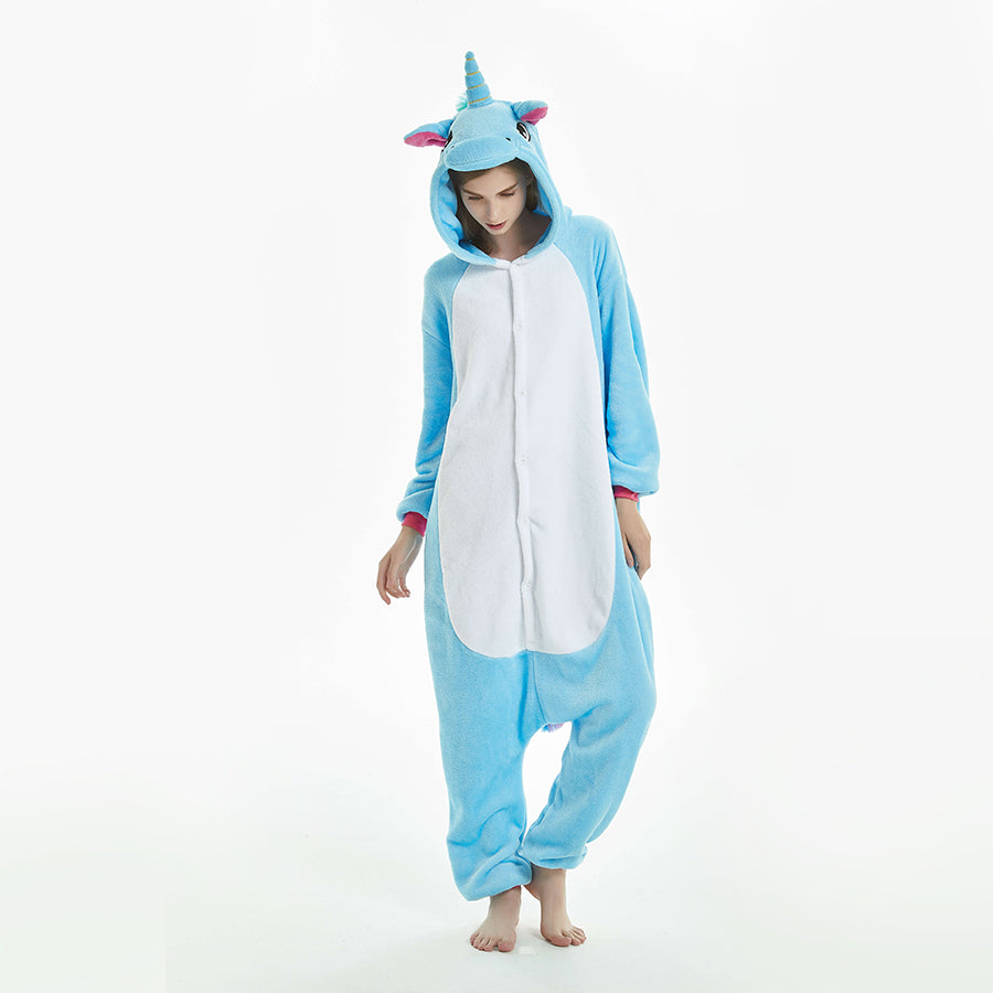 women blue unicorn pajama