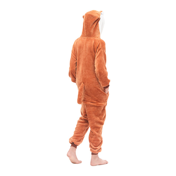 brown hooded mongoose tail onesies