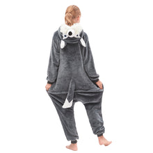 Load image into Gallery viewer, hooded grey girls onesies