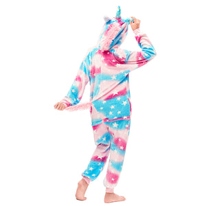 pegasus colorful girls onesie with a tail