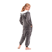 Load image into Gallery viewer, stitch hooded grey girls onesies