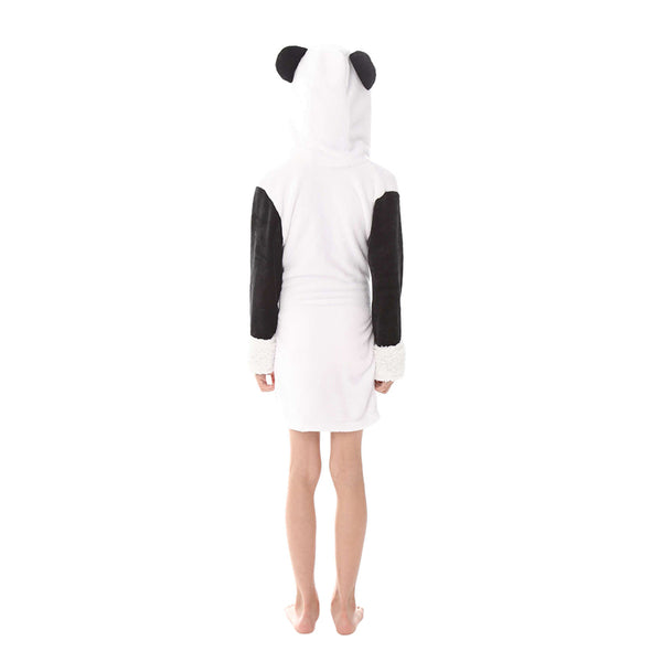 fleece panda kids robes