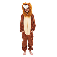 Load image into Gallery viewer, boys brown lion king winter pajamas