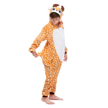 Load image into Gallery viewer, reindeer footless hoody pajamas for boys